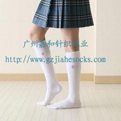 學生襪廠家供應男女學生純棉無骨學生襪