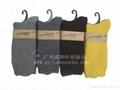 廠家純色羊毛襪純色中筒男女羊毛