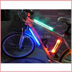 LED fiber safety warning stick for Bicycle