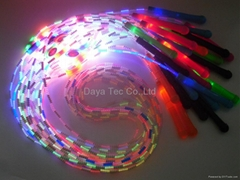 Mixed color glowing jump rope LED skipping rope for night exercise