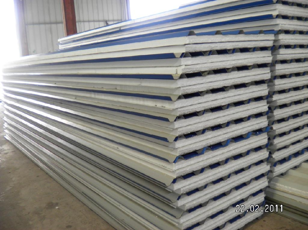Color Coated Insulated Roofing Panels Jialiang China