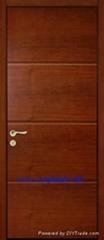three panel solid oak wooden doors
