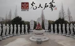 惠安寺廟石雕觀音佛像