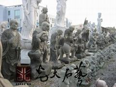 寺廟石雕十八羅漢