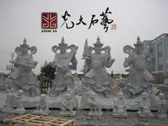 惠安寺廟石雕四大金剛