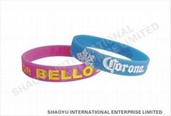 debossed silicone wristbandWBD0001