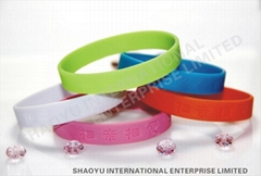 debossed silicone wristbandWBD0021