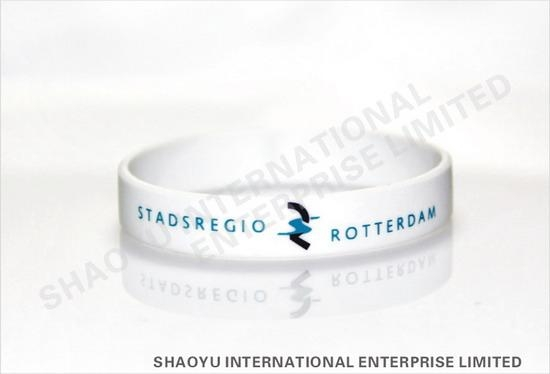 Printed silicone wristband WBP0002 1