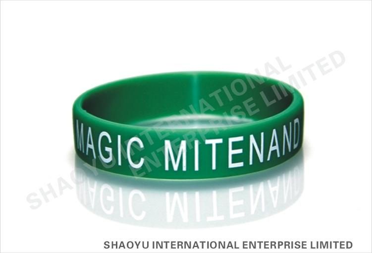 Printed silicone wristband WBP0002 4