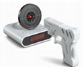 Gun Alarm Clock with Shooting and