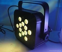 12*3W RGB flat led par64