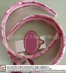 European and American style Satin printing head hoop