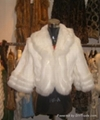Lady's rabbit fur coat