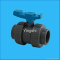 PVC Ture/Double union ball valve