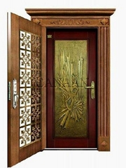 steel combined timber door