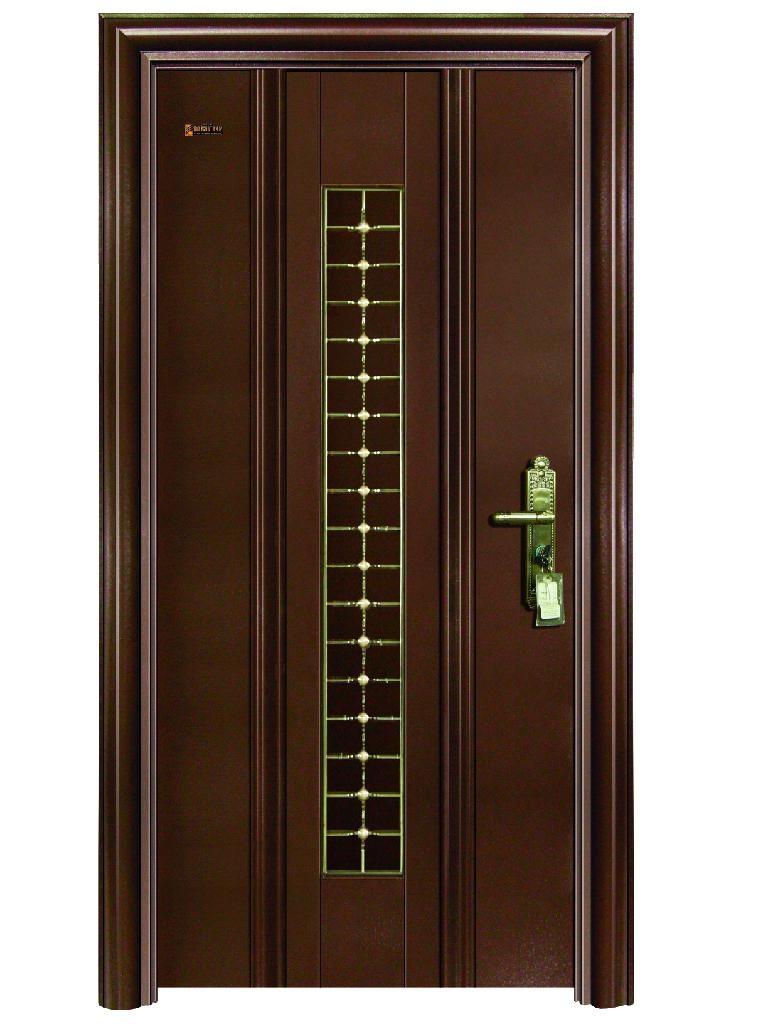 Single panel steel door a5 101 m canaan door china for 1 panel door