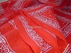 "22"" 100% cotton printing bandana"