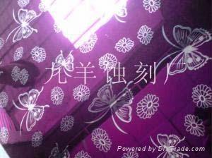 紫色不鏽鋼蝕刻花紋板 1