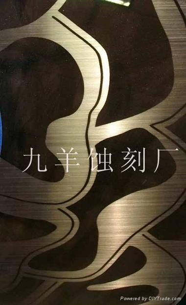鈦金不鏽鋼拉絲花紋板 1