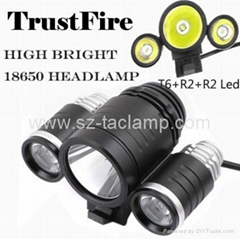 TrustFire D003 Cree XML T6 + 2*XPE R2 1800Lumen Bicycle Light Headlamp