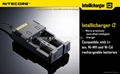NiteCore IntelliCharger i2 Charger - for charging 18650, 16340(RCR123), 14500, e