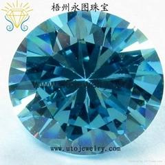 人造宝石进口海蓝锆石