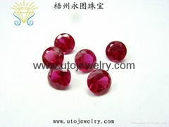 梧州人造宝石红刚玉