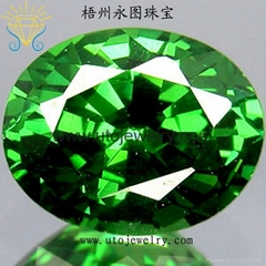 绿锆石梧州彩色宝石