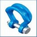 進口鍛造合金鋼寬體卸扣-帶螺母