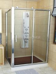 Brass Wheel Sliding Shower Room