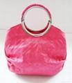 红色时尚欧美风格圆形手挽手提肩背两用女包 2