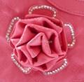 红色时尚欧美风格圆形手挽手提肩背两用女包 4