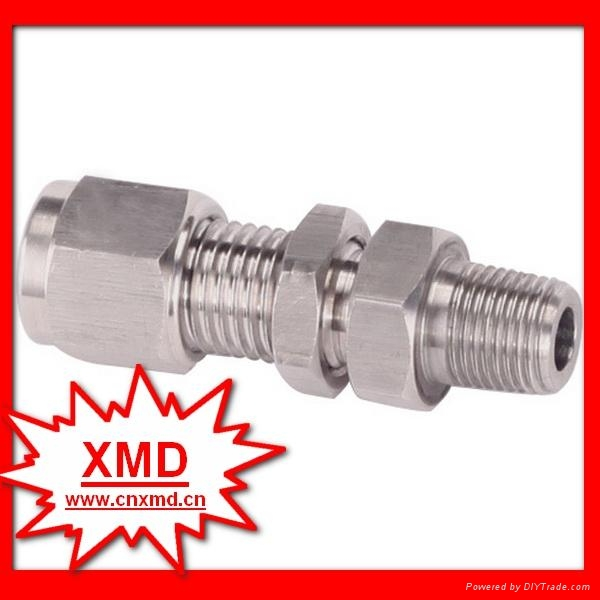 High pressure bulkhead connector tube fittings xmd