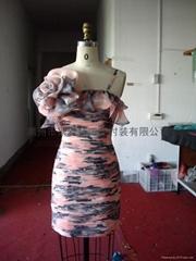 短款花紋禮服