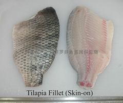 Skin-on tilapia fillets