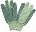pvc dot cotton gloves