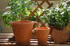 Ceramic flower pot terracotta pot pottery artware
