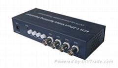 4路有源视双绞线传输电位器细调6级防雷