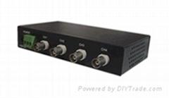 网盒视通机架式4路有源双绞线发送器