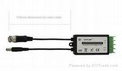 迷你线有源双绞线传输器摄像机共用电源