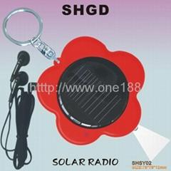 太阳能收音机礼品收音机收音机钥匙扣
