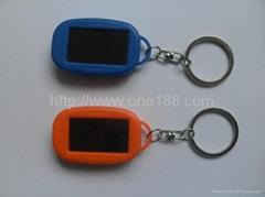 太阳能三灯手电筒LED手电筒钥匙配饰