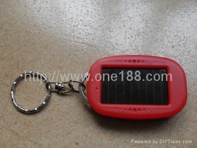 太阳能三灯手电筒LED手电筒钥匙配饰 2