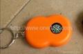 太阳能三灯手电筒LED手电筒钥匙配饰 5