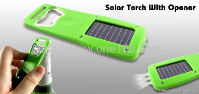 太阳能开瓶器手电筒 2