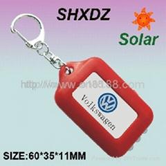 太阳能饰品广告礼品投影手电筒