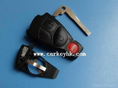 High quality Benz 3+1 buttons remote key blank shell case with inner parts