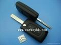 Citroen 407 2 buttons flip remote key