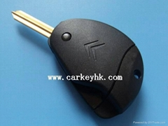 New style Citroen remote key shell blank case