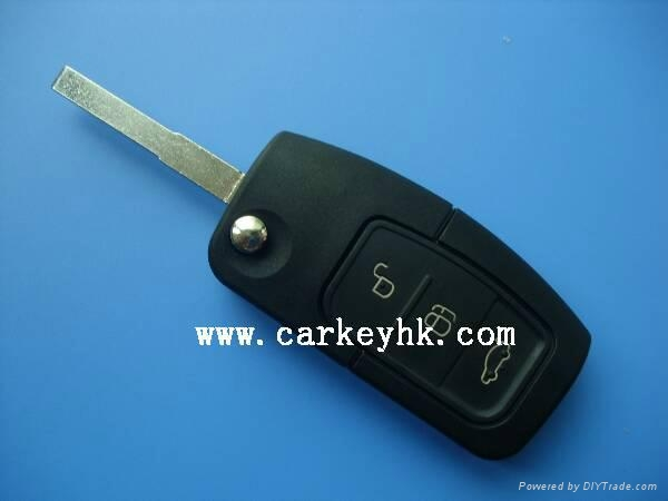 High quality Ford Focus remote key shell 3 buttons blank case car key for ford 1
